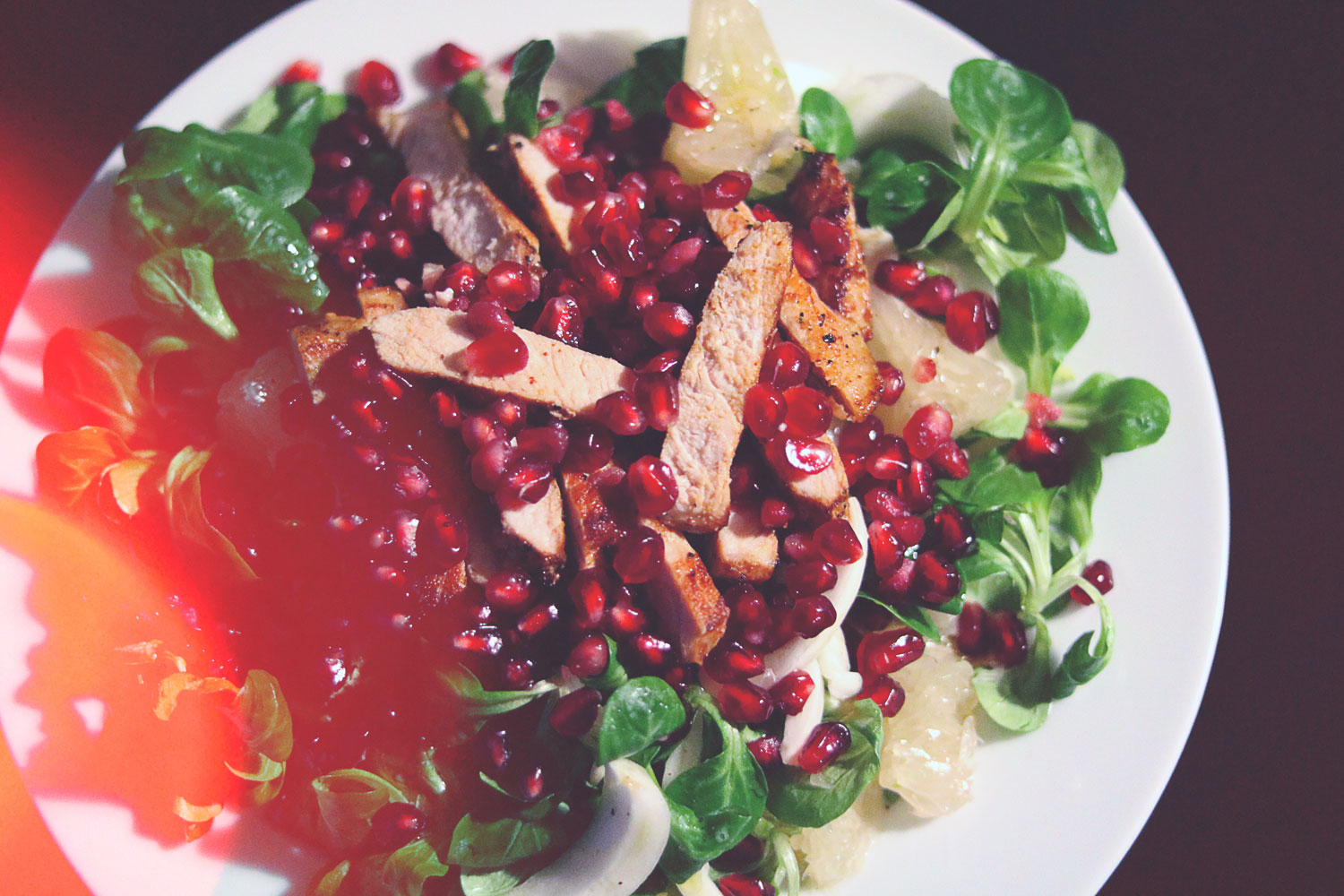 allthesomethings-Salat mit Pute und Pomelo-somethingdelicous